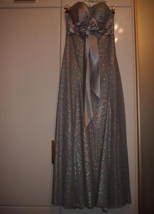 Шикарное платье, одетое один раз.