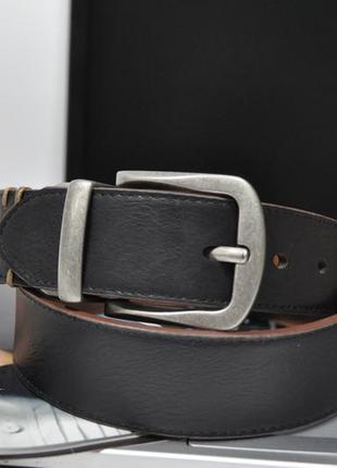 Ремень двухсторонний levi's reversible logo and rivet, black/tan 11lw120007