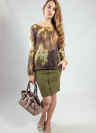 Блуза-туника лето цветная длинный рукав s.oliver