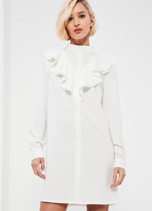 050c6e68f78 Missguided сукня-сорочка кольору айворі з жабо