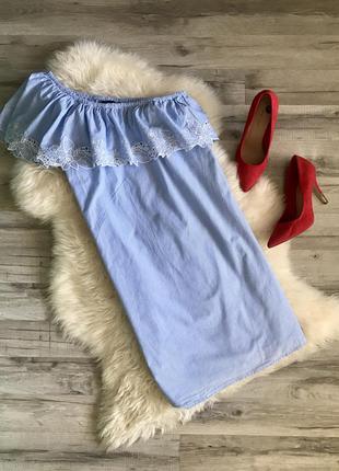 Крутое,легкое платье с воланом
