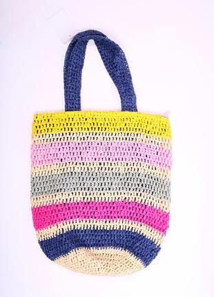 Летняя сумка от с&a стилизована под соломку