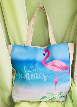 """Пляжная сумка """"фламинго"""""""