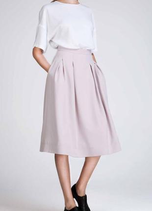 Пудровая юбка миди krisstel