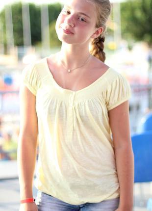 Желтая футболка new look
