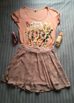 Розовая юбка new look