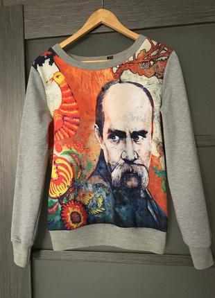 Джемпер пуловер свитшот с принтом шевченко