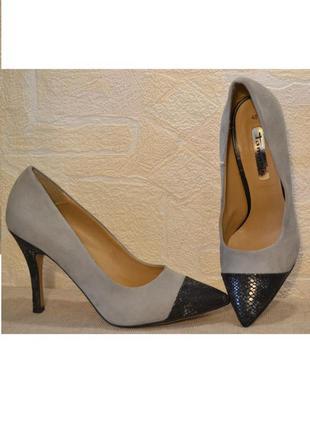 """Р.40 германия """"tamaris"""" оригинал, натуральная кожа! изысканные элегантные туфли"""