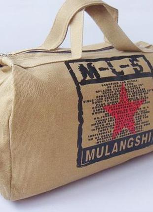 Мужская дорожная сумка, сумка из брезента,сумка bl-5