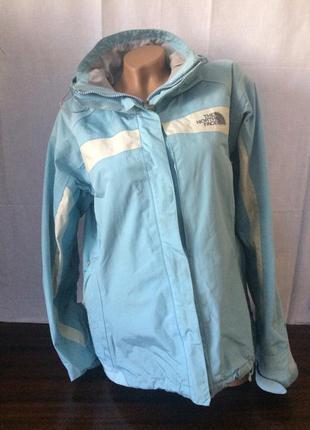 Женская спортивная куртка-ветровка с капюшоном the north face цвета бирюзового низкая цена
