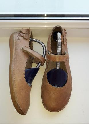 Кожаные балетки/мокасины от kickers