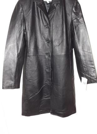 Кожаный плащ на пуговицах thomas&daniel 38 размер