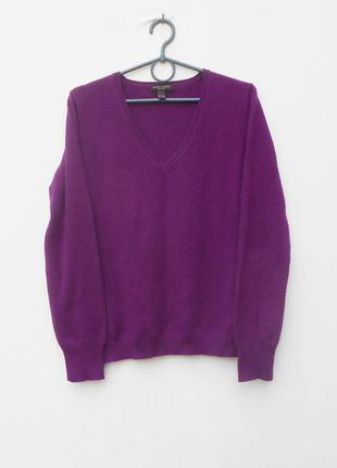 100% кашемировый свитер пуловер с длинным рукавом henri bendel new york