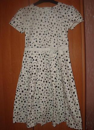 Чудесное платье на девочку из хлопка