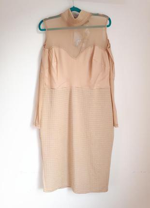 Платье миди большой размер