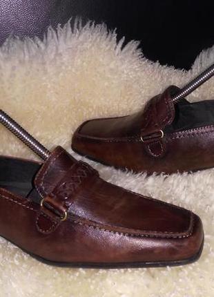 Caprice кожа туфли 38-38.5 см кожа пл ст25 см каблук 3.5 см ширина 8 см