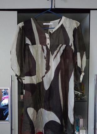 Шелковая блуза zara basic