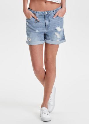 Шорты высокая посадка стильные джинсовые