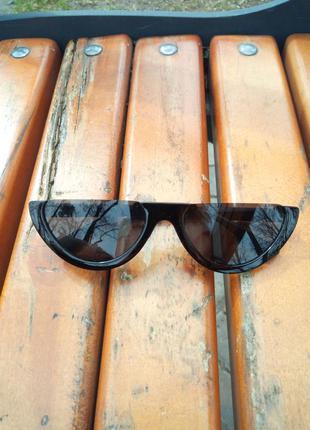 Солнцезащитные очки (ретро,чёрные)