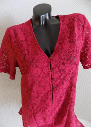 Нарядный гипюровый блузон