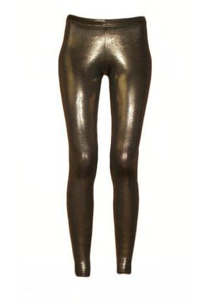 Золотистые блестящие лосины леггинсы bay размер 12