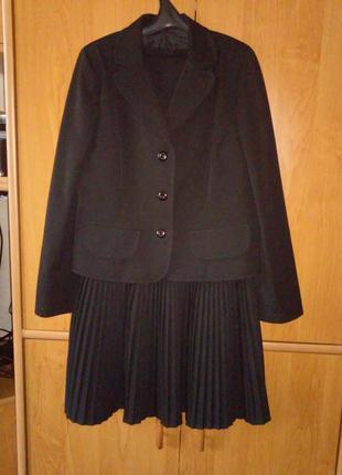 Школьная форма для девочки р. 140, два элемента, тм промінь, цвет черный
