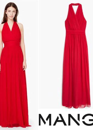 Очень красивое платье mango 100% шёлк!