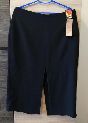 Деловая стильная юбка с двумя распорками