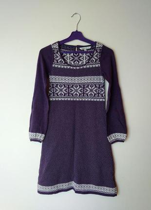 Классное вязаное платье fat face