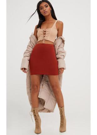 Базовая мини юбка prettylittlething м,l.