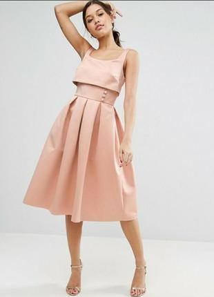 Нарядное платье с пышной юбкой с asos пудра пастель костюм пачка