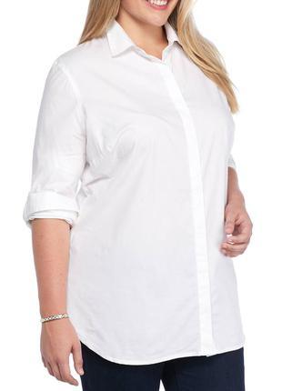 Обнова! летняя белая натуральная рубашка новая большой размер