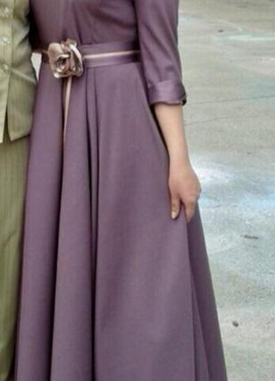 Самая низка цена!! выпускное, вечернее платье в пол цвета фуксии (фиолет)