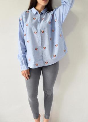 Рубашка с вышивкой new look