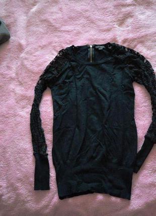 Блуза с кружевными руковами