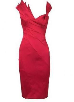Вечернее красное платье бренд karen millen оригинал