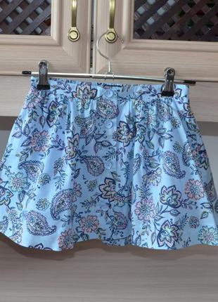 Брендовая хлопковая юбочка