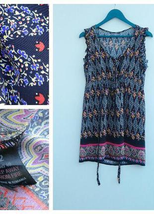 Летнее короткое платье легкое и красивое