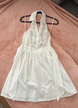 Белое платье naf naf