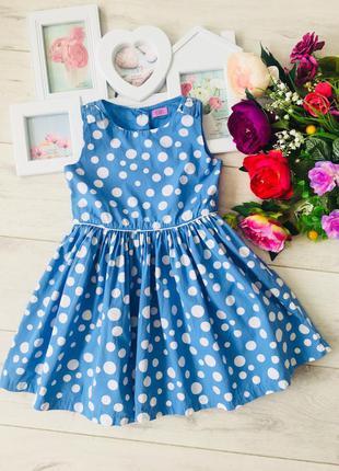 Хлопковое платье натуральное
