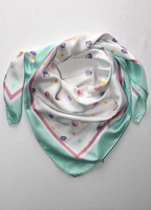 Красивый платок, шейный платок, бандана, повязка салоха, германия. 65*65 см.