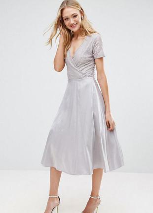 Переливающееся платье с пышной юбкой true decadence для asos,р-р 10