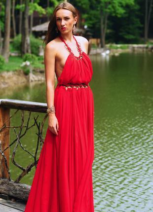 Шикарное красное платье на новый год!