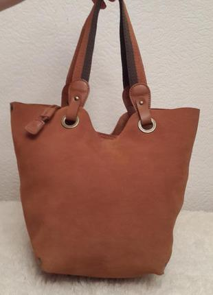 Замечательная замшевая сумка шоппер мини coccinelle