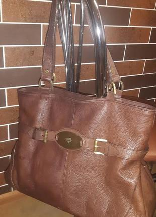 Кожаная сумка mulberry, оригинал с серийным номером