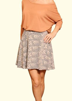 Красивая легкая буклированная юбка, l