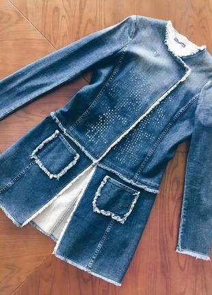 Пальто летнее джинсовое trussardi jeans