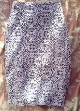 Красивейшая юбка из плотного кружева