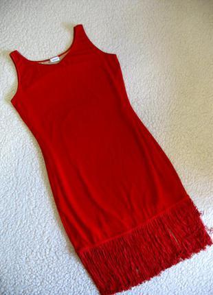 Платье миди с бахромой  together