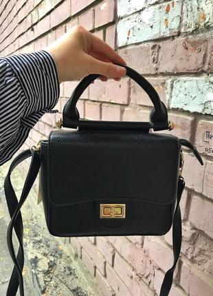 Маленькая черная сумка с ручкой/ через плечо
